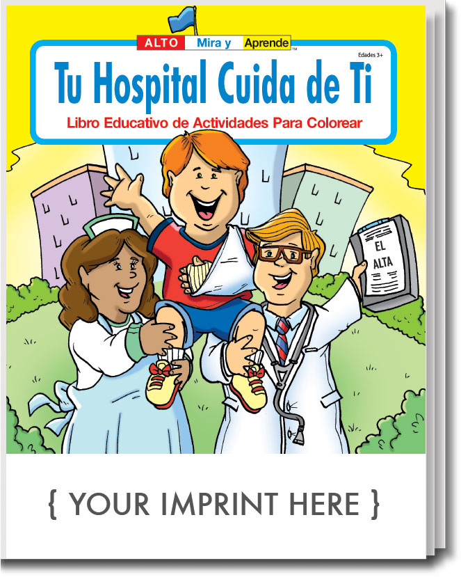 COLORING BOOK - Your Hospital Cares About You (Spanish) Coloring & Activity  Book
